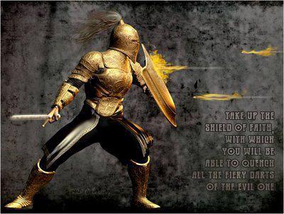Dardi infuocati scudo e spada
